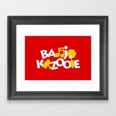Banjo-Kazooie - Red Framed Art Print