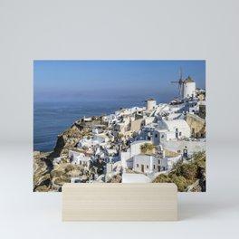 Oia in Santorini, Greece Mini Art Print