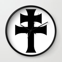 Cross of Lorraine Croix de Lorraine Wall Clock