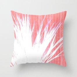 NL 15 Pink & White Tribal Grass Throw Pillow