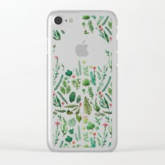 Green garden at nigth 3 Clear iPhone Case
