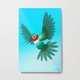 Hummingbird Lui Metal Print