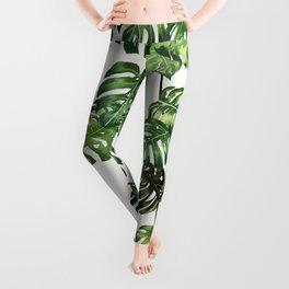 Monstera Garland  Leggings