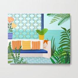 Sanctuary - Tropical Garden Villa Metal Print