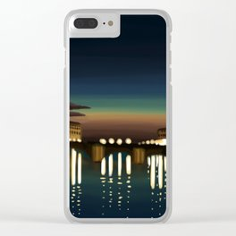 The Arno River Clear iPhone Case