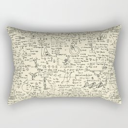 Physics Equations // Parchment Rectangular Pillow