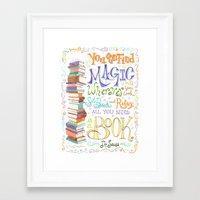 dr seuss Framed Art Prints featuring Dr. Seuss by Ili Sn