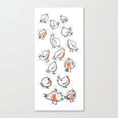 Erithacus rubecula Canvas Print