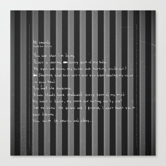 blackframe/18 seconds Canvas Print