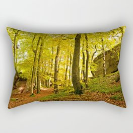 Rocky forest in the fall Rectangular Pillow