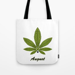 Birthstoned Leaf of Month, August Peridot Tote Bag