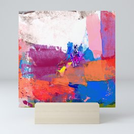 polo abstract red blue Mini Art Print