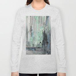 Bleu grey Abstract Long Sleeve T-shirt