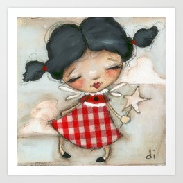 Fairy in Training - Dusty Art Print
