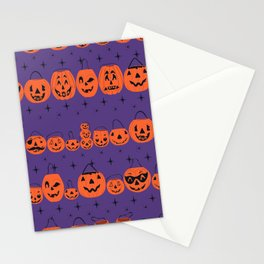 Trick or Treat Smell My Feet- Purple Stationery Cards