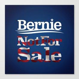 Bernie Sanders Not for sale Canvas Print