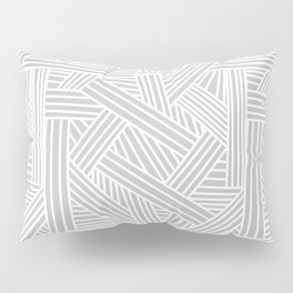 Sketchy Abstract (White & Gray Pattern) Pillow Sham