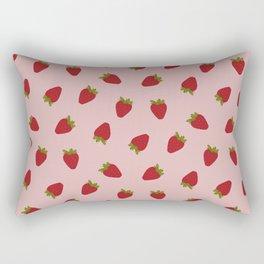 Cute Strawberries Rectangular Pillow
