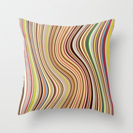 Old Skool Stripes - Flow Throw Pillow