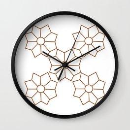 Inanna Rosette Wall Clock