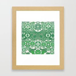 Vintage Victorian Boho Lace Framed Art Print