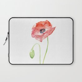 Red Poppy Flower Flowers Laptop Sleeve