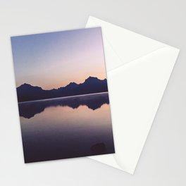 Sunrise over Glacier Stationery Cards
