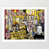 lichtenstein Art Prints featuring Lichtenstein by Phillip J. Speciale