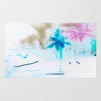 preppy Area & Throw Rugs featuring Preppy Beach by EPART