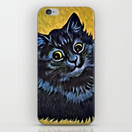 Louis Wain's Cats - Black Cat iPhone Skin