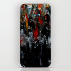 Red Coats In The Crowd Cityscape Part 2 iPhone & iPod Skin
