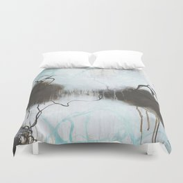 Into the Storm - Square Abstract Expressionism Duvet Cover
