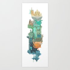 Dark Souls World Map Art Print