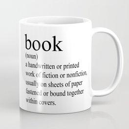 Book Definition (Black on White) Coffee Mug