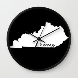 Kentucky State Map Home Gifts Wall Clock