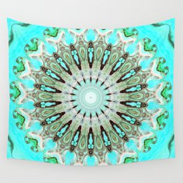 Tropical Floral Mandala Wall Tapestry