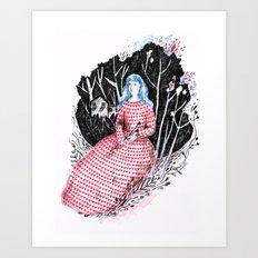 Lady at home Art Print