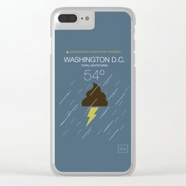 Total Shitstorm Clear iPhone Case