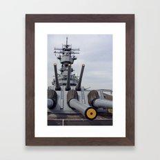 USS Iowa Framed Art Print