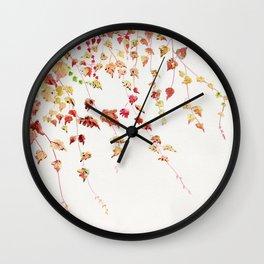 Vines Watercolor Wall Clock