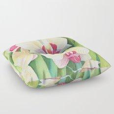 Cascading orchids Floor Pillow