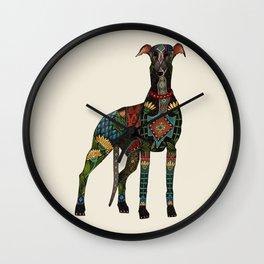 greyhound ivory Wall Clock