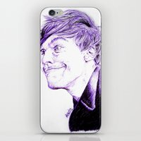 louis tomlinson iPhone & iPod Skins featuring Louis Tomlinson by Drawpassionn