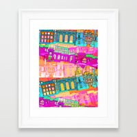 cityscape Framed Art Prints featuring Cityscape by Aimee St Hill
