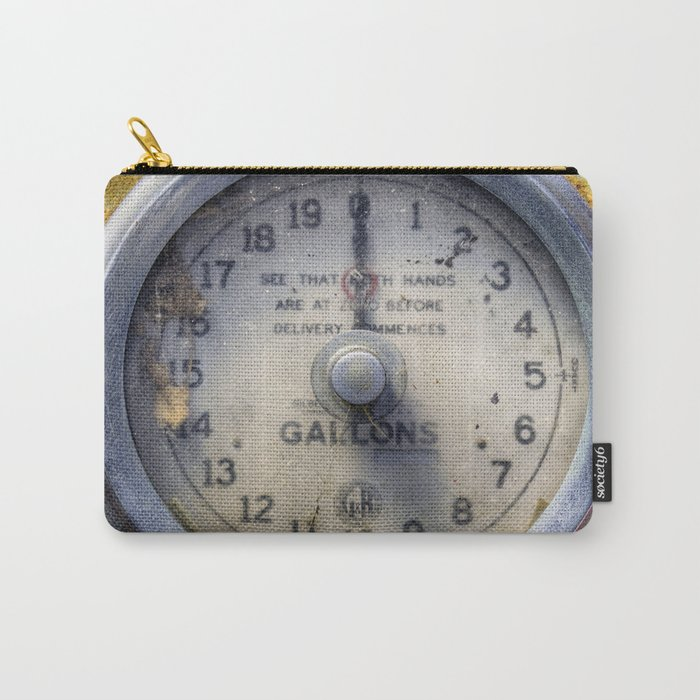 Old Petrol Pump Gauge Carry-All Pouch