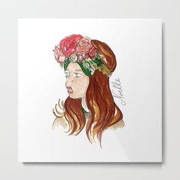 Ellie Rose Metal Print
