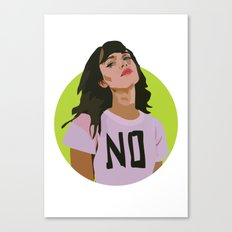No Canvas Print