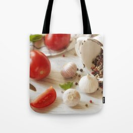Fresh herbs and Spice for kitchen Tote Bag