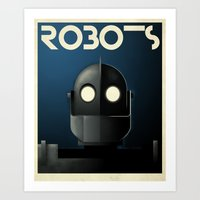 iron giant Art Prints featuring Robots - Iron Giant by Greg-guillemin