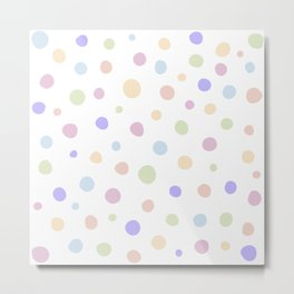 Cute Polka-Dot Pattern Design - Spots Metal Print